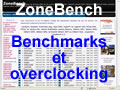 Benchmark overclocking avec zonebench.com