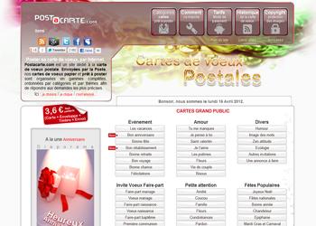 Actualité Postacarte, Evenement Cartes De Voeux Papier Auto Posté