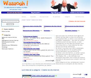 Annuaire Création de site Internet : Waaaouh peaufine sa catégorie