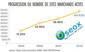 Nombre de sites Ecommerce