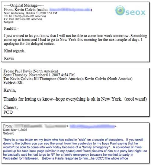 Correspondance dans l'affaire Kevin Colvin