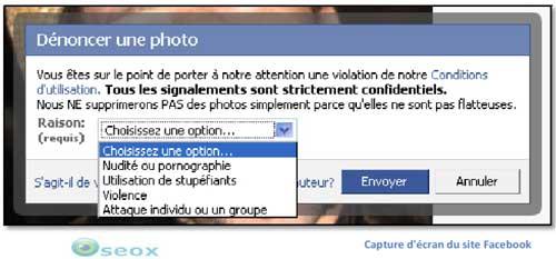 Dénoncer une photo sur Facebook