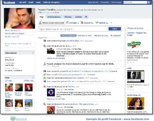 Facebook : page profil