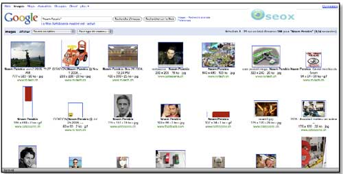 Classement des informations dans un moteur de recherche Image