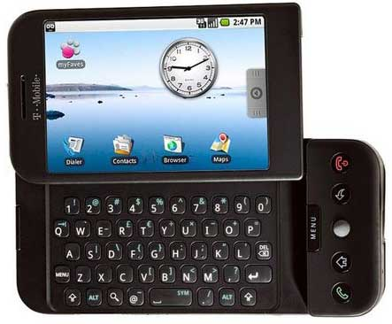 Android : Photo du HTC Dream G1