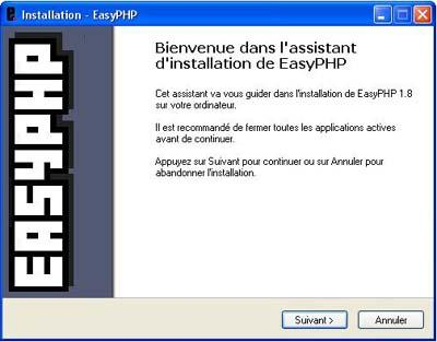 Assistant d'installation d'EasyPHP