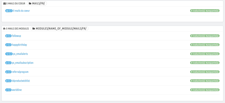 module email et traduction